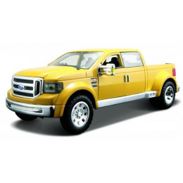 Maisto Маисто Машинка металлическая 1:24 FORD MIGHTY F-350 SUPER DUTY желтый Hobby Special Edition 31213