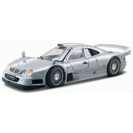 Maisto Маисто Машинка металлическая 1:24 MERCEDES-BENZ CLK GTR street version серебристый Hobby Special Edition 31949